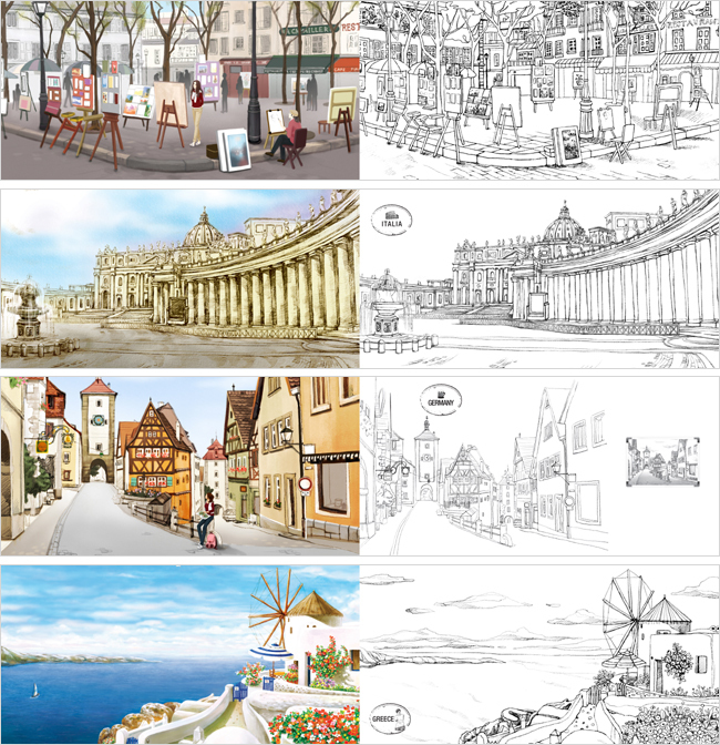 coloring book Travel to Mind (Colouring Book) with 18 color free ...