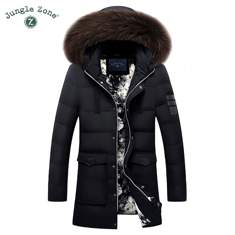 2017 Winter down jacket Men Warm Coat Fashion Casual down jackets Medium-Long Thickening Coat Men For Winter down jackets 3XL