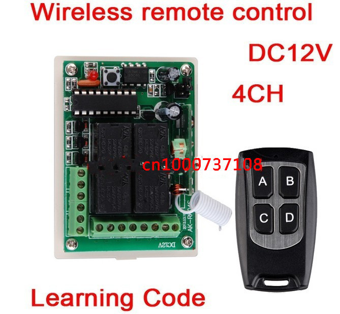 4CH 12V rf home automation remote control switch315mhz 433MHZ transmitter and recevier wireless switch Radio smart home control 315 433mhz 12v 2ch 6 transmitter