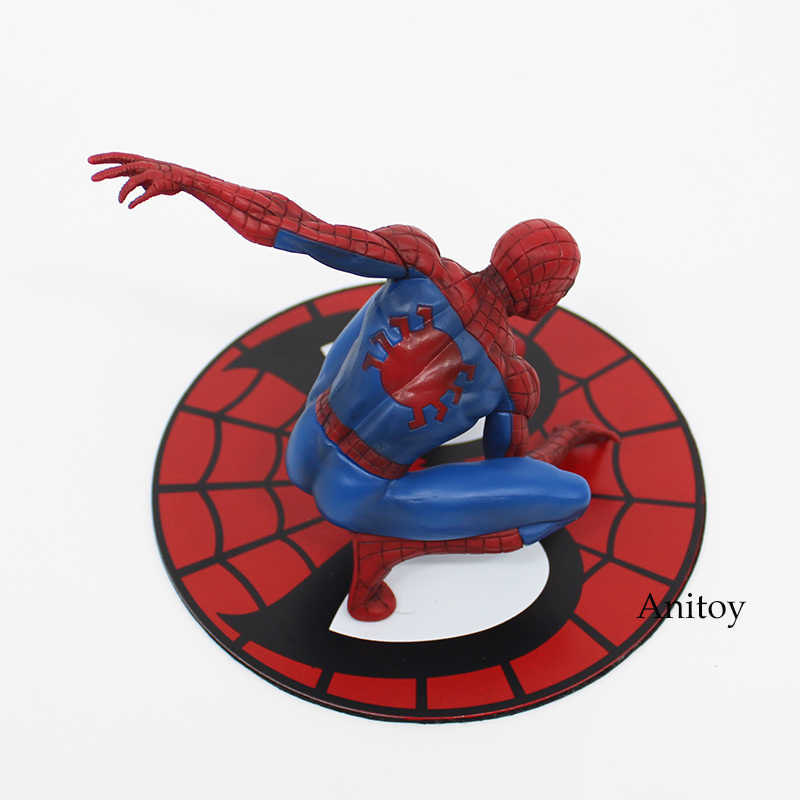ARTFX + ESTÁTUA Spiderman The Amazing Spider-man PVC Action Figure Collectible Modelo Toy 12 cm KT3715