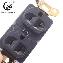 XSSH Audio real red pure copper plated gold Rhodium 20amp 20A 125V America Standard US power socket electric outlet core