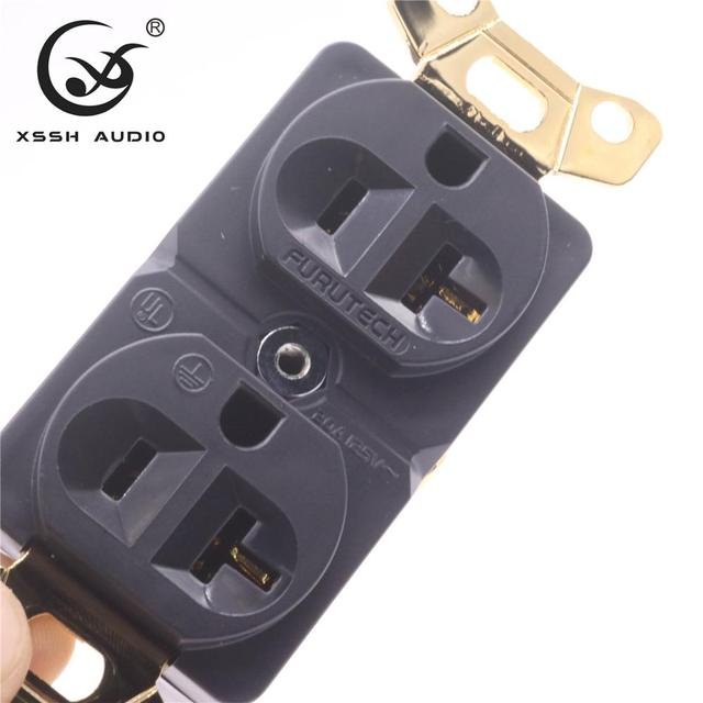 XSSH de Audio rojo auténtico puro cobre chapado oro rodio 20amp 20A 125V estándar de América potencia para USA toma eléctrica de salida core