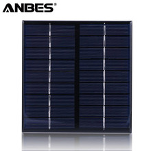ANBES Solar Panel 9V 2W 115*115*2mm Solar Cells Polycrystalline Silicone Solar Power DIY System For Light Battery Solar Panel