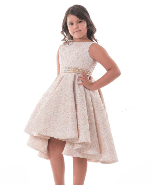 2018 Beautiful Flower Girl Dresses for Wedding Lace with Beaded Sash Bow Communion Gown 2-16 Years Old White Ivory2018 Beautiful Flower Girl Dresses for Wedding Lace with Beaded Sash Bow Communion Gown 2-16 Years Old White Ivory