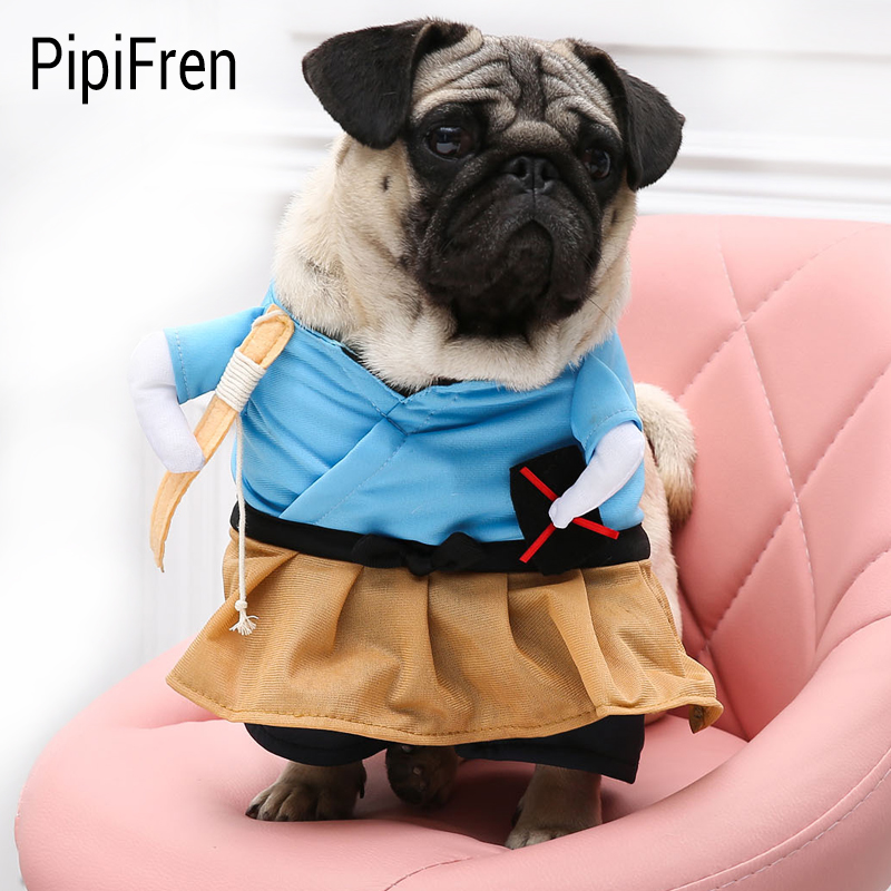PipiFren Small Dogs Clothes Cosplay Pirate Costume For Pet Cosplay Cat Clothes Cartoon Dog Suit vetement chien hundebekleidung