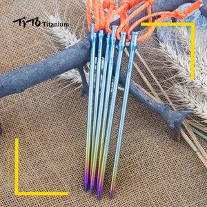 Image 4 - 6 個ティトチタン合金チタンスパイクアクセサリーテントステーク直径 5.0 ミリメートル/6.0 ミリメートルテントアクセサリー爪
