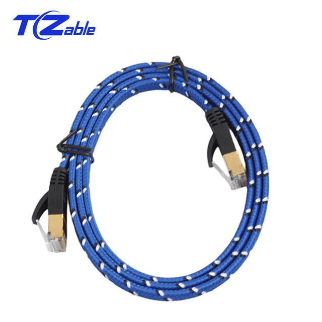 Network Rj45 Cable CAT7 Ethernet Cable 10Gbps For Internet Cable For Computer Router Laptop Switch wireless Router