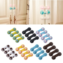 4Pcs Doors Drawers Wardrobe Toddler Baby Children Protection Safety Plastic Lock