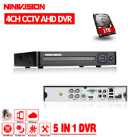 4 Channel AHD DVR AHDNH 1080P 1080N 960P 720P 960H Security CCTV DVR 4CH Mini Hybrid