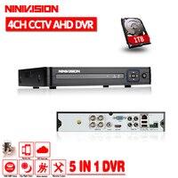 4 канала AHD DVR AHDNH 1080 P/1080N/960 P/720 P/960 H безопасности CCTV DVR 4CH мини Гибридный HDMI DVR Поддержка IP/аналоговый/AHD Камера