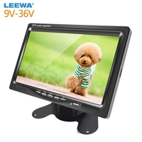 LEEWA New DC9V 36V 7 Inch Color TFT LCD Rear View Monitor Headrest Stand alone Display For Auto DVD VCD Reversing Camera #CA2838