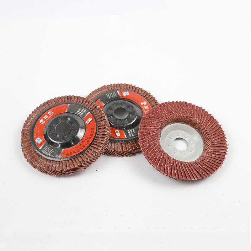 5pcs 100mm Sanding Flap Disc Grinding Flap Wheels Brush Sanding Metal Wood Polishing Rust Removal Tool For Angle Grinder