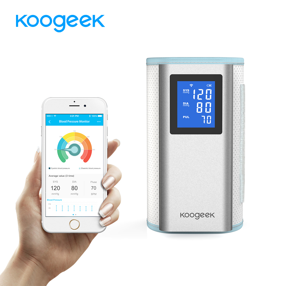 все цены на Koogeek Home Health Care Smart Upper Arm Blood Pressure Monitor Heart Rate Detection Fully Automatic Rechargeable for Home Use