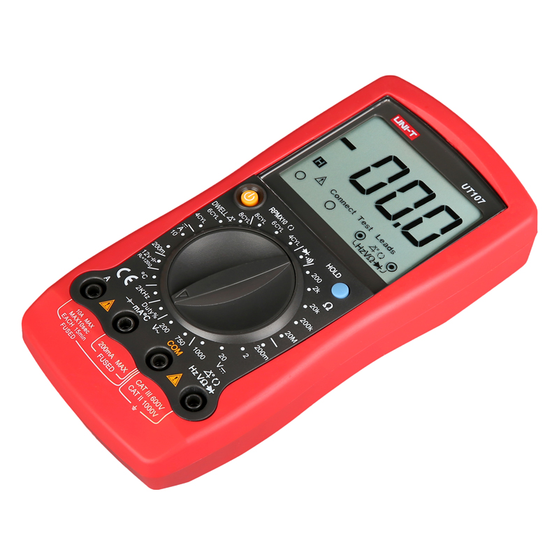 UNI-T UT107 compteur polyvalent automobile de poche gamme manuelle multimètre Tach Test de batterie AC/DC voltmètre testeur multi-mete