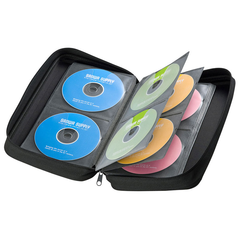 RACAHOO CD Case 104 Sleeve of shockproof Blu-ray disc storage box CD / DVD storage high quality EVA Material Case For car home