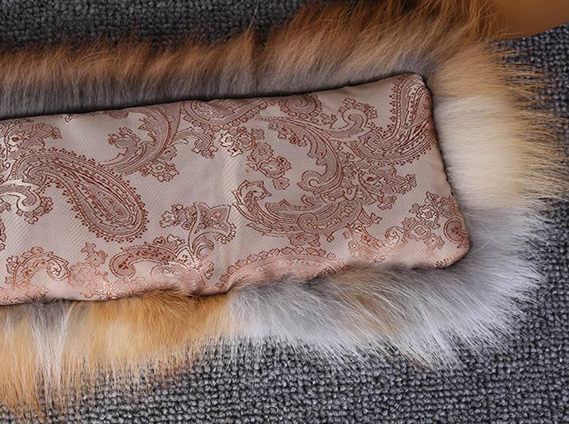 fox skin scarf big fox fur scarf (15)
