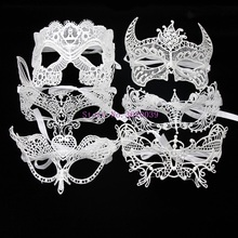 купить 1 Pcs White Sexy Party Lace Mask For Women Half Face Carnival Festival Ball Halloween Masquerade Masks Event & Party Supplies онлайн