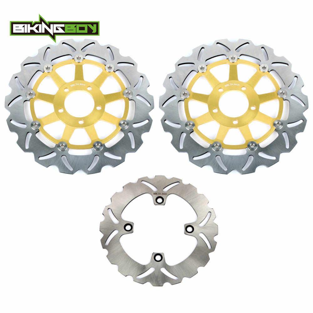 BIKINGBOY Front Rear Brake Discs Rotors Disks ZZR 600 ZZ-R 400 90 91 92 ZX6R NINJA 95 96 97 ZX12R 04 05 06 ZR 750 Zephyr 91-02