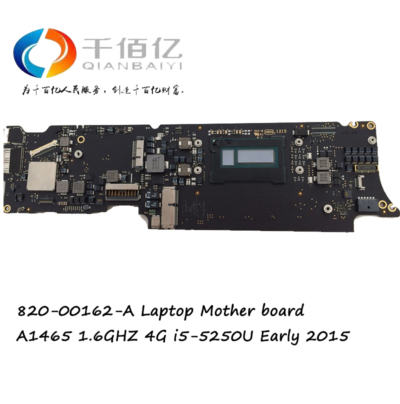 Original Laptop logic board for MacBook Air 11'' <font><b>A1465</b></font> mother board I5 4G 1.6GHz 2015 year 820-00164-A image