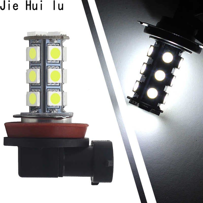 Car Headlight LED 5050 18 SMD H11 H8 Bulb Car-styling LED Lamps for DC12V Driving Fog Lights White Car Light