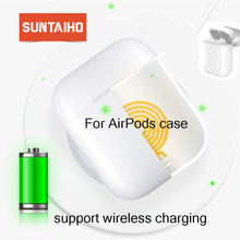Suntaiho Qi Wireless Charger Box for Apple airpods Bluetooth Headset Charging for Apple airpods Wireless Charger Box Mini case