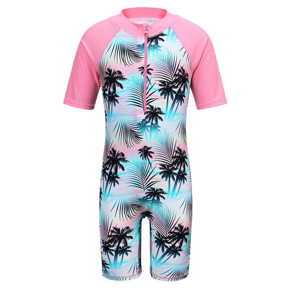UV Baby Girls Kids Siamese Sleeveless Flamingo Swimsuit Rash Guard Bathing Suit UPF 50