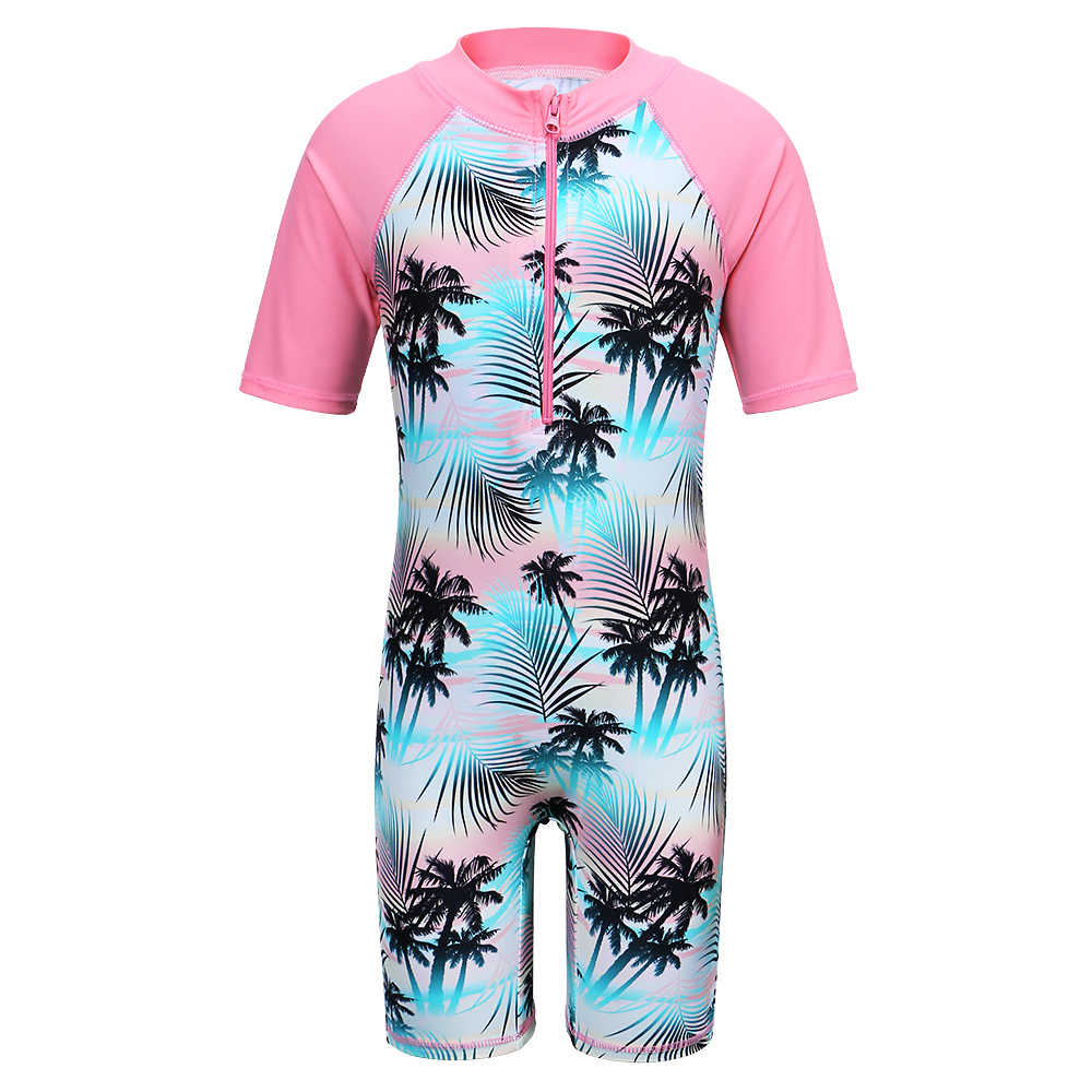 9599433eb9 BAOHULU Short Sleeve Girls Swimsuit One Piece Kids Swimwear Girl Rash Guard  for 2-11