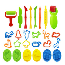 26PCS DIY רפש פלסטלינה עובש דוגמנות חימר ערכת רפש פלסטיק לשחק בצק כלים סט Cutters תבניות צעצוע לילדים ילד מתנה