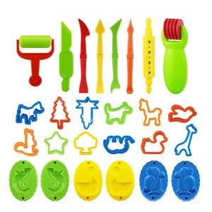 Image 1 - Molde de plastilina DIY para niños, 26 Uds., Kit de arcilla de modelado, juego de herramientas para masa de Baba, juego de cortadores, moldes de juguete para regalo de chico