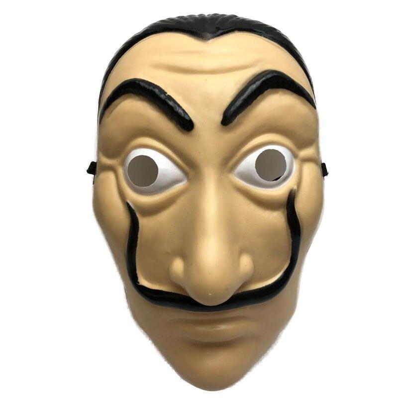 Argent Heist La maison du papier La Casa De Papel masque pour hommes femmes Salvador Dali masque Halloween carnaval noël dali masque