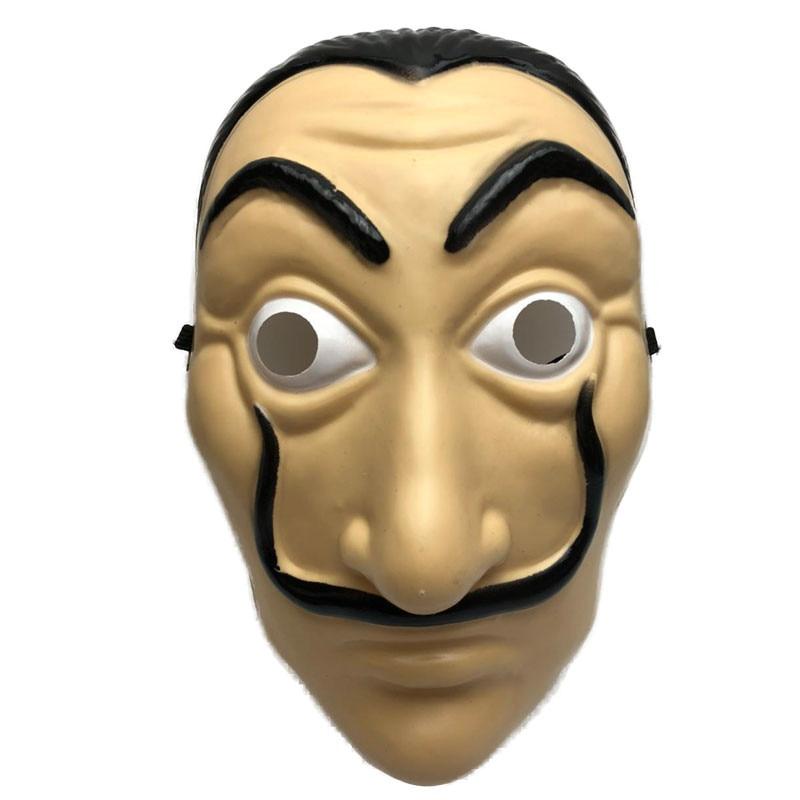 Máscara De La Casa De Papel para hombres mujeres Salvador Dalí máscara De Carnaval De Halloween Navidad dali máscara