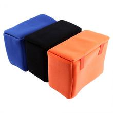 3 Colors Nylon + Velvet Portable Camera Inner Partition Padded Protector Case Bag For SLR DSLR Camera