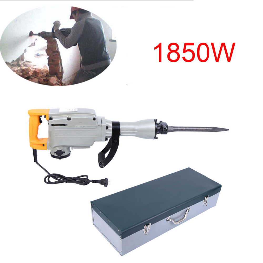 (Shipping From EU) Multipurpose 1850W Rotary Hammer Chisel Hammer Impact Drill Hammer Drill hammer