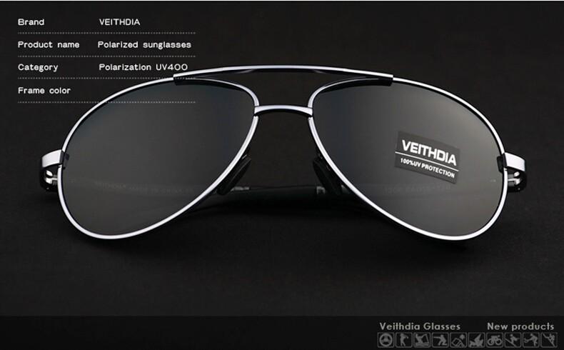 VEITHDIA Men's Polarized Sunglasses 16