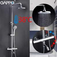 GAPPO Dusche Armaturen badezimmer thermostat dusche wasserhahn bad dusche mixer set wasserfall regen dusche kopf set badewanne wasserhahn tap