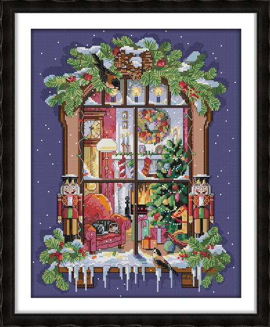 The window of the Christmas