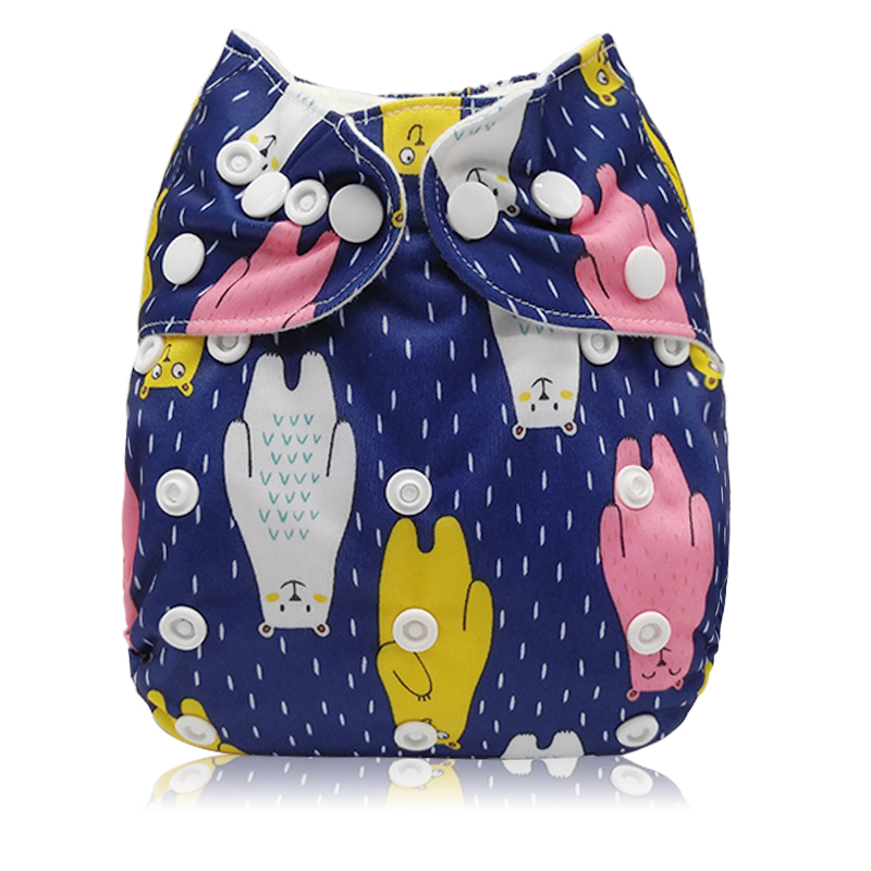 [Mumsbest] 2019 New Arrival Cloth Diaper Reusable Washable Baby Nappies Baby Cover Size Ajustable Pocket Diapers