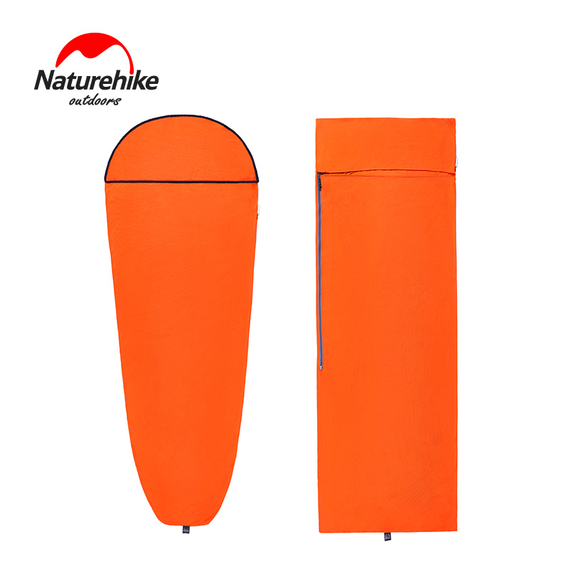 Naturehike Camping Sleeping Bag Liner Envelope Mummy Outdoor Camping Portable Single Bed Sleeping Bag Liner Lock