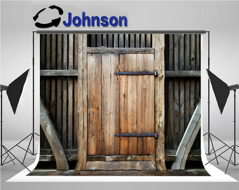 old rustic barn door wooden photo backdrop Vinyl cloth High quality Computer print wall backgrounds