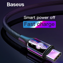 Baseus Smart Change Breathe Lighting USB Type C Cable Support 3A Fast Charging for Samsung galaxy note 9 s9 plus Type C Devices