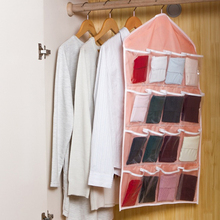 16 Pockets Foldable Wardrobe Hanging Bags Socks Briefs Organizer Clothing Hanger Closet Shoes Underpants Storage Bag