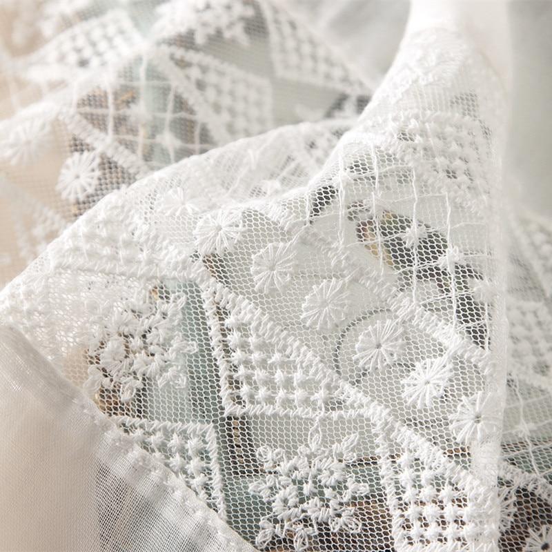 Marca 2018 primavera verano Mujer bufanda moda blanco encaje de seda ...