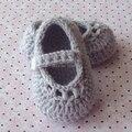 Botines del ganchillo Del Bebé, bebé de Mary Jane Shoes, Zapatos de Bebé Del ganchillo