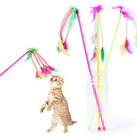 Kitten Cat Teaser Interactive Toy Rod With  Feather Pets Acessories Goods For Pet Cat Products New Arrival 2019 Hot Sale #O