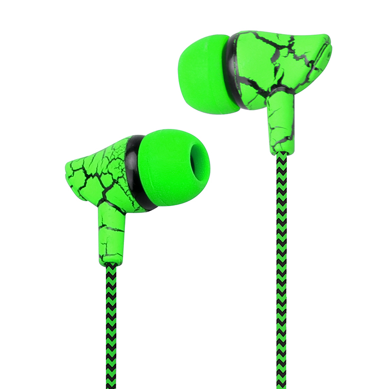 Best gift Crack outdoor Earphone Cloth Rope Earpieces Universal Stereo Bass Music Headset with Mic for Xiaomi MP3 iphone