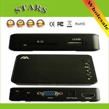 Mini Full HD Médias multimédia Lecteur Autoplay 1080 p USB Externe HDD SD U Disque Lecteur Multimédia Avec HDMI VGA AV Sortie POUR MKV RMVB