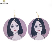 YD&YDBZ Pink Cute Girls Earrings Fashion Trendy Big Earrings For Women Hiphop Birthday Gift Drop Earrings A Pair Jewelry Punk pair of cute kitten earrings for women