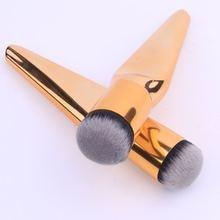 1Pcs Big Size Gold Shading Powder Blush Makeup Brush Foundation Base Contour Make Up with Metal Handle High Quality