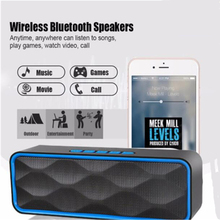 Fu&y bill  Wireless Mini Bluetooth FM Speakers Outdoors Hands Free Speaker TF Card USB Stereo Music Sound Box For Smartphones