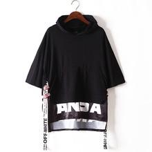 Nero T-shirt di Cotone